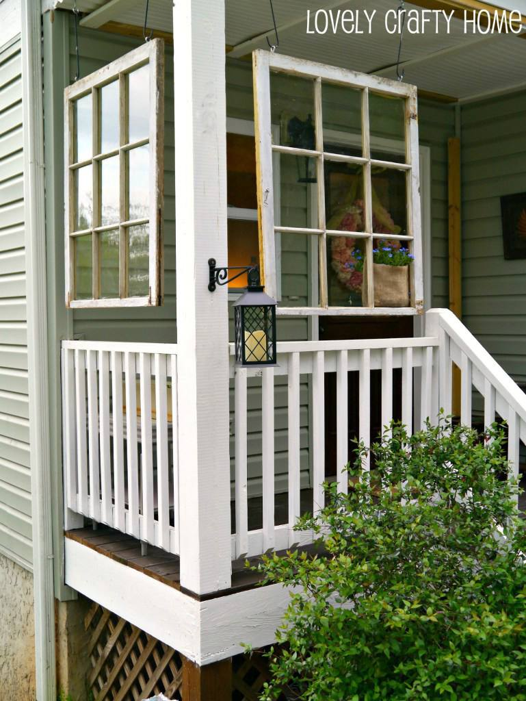 21 diy outdoor decor decorating ideas for Outdoor decorating with old windows