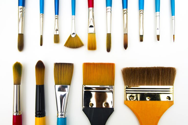 Pictures Of Different Types Of Paint Brushes
