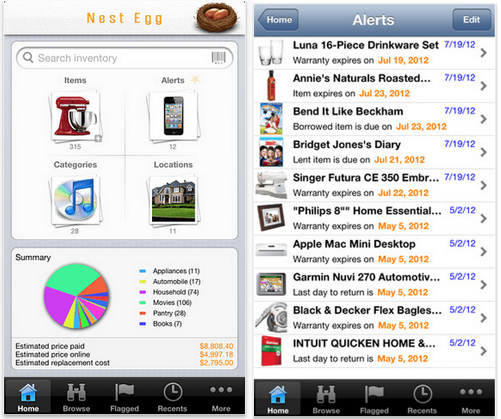 Seven iPhone Home Inventory Apps