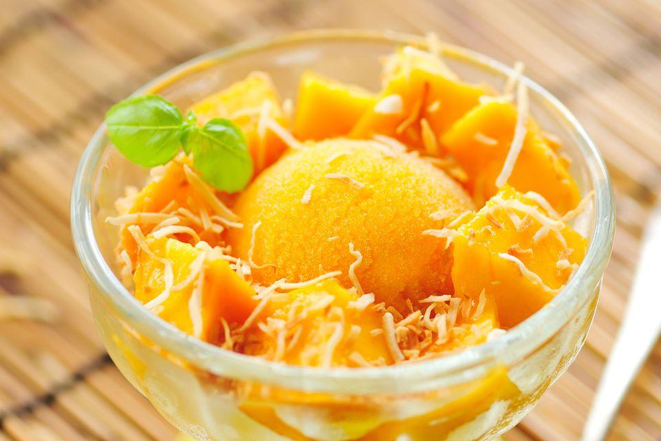 Food Processor Mango Sorbet