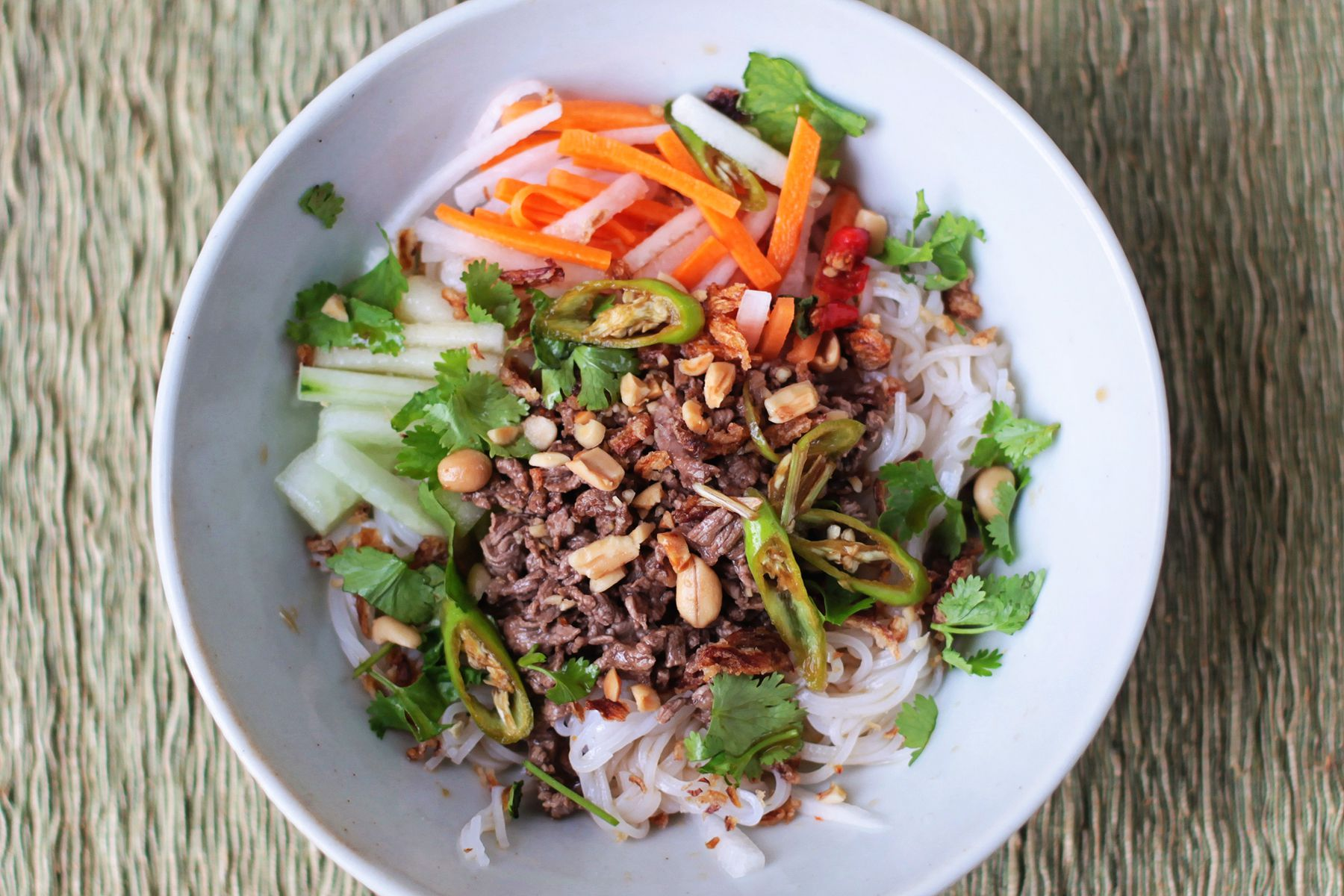 Make Vietnamese Noodle Salad with Lemongrass Beef (Bun Bo Xao) at Home