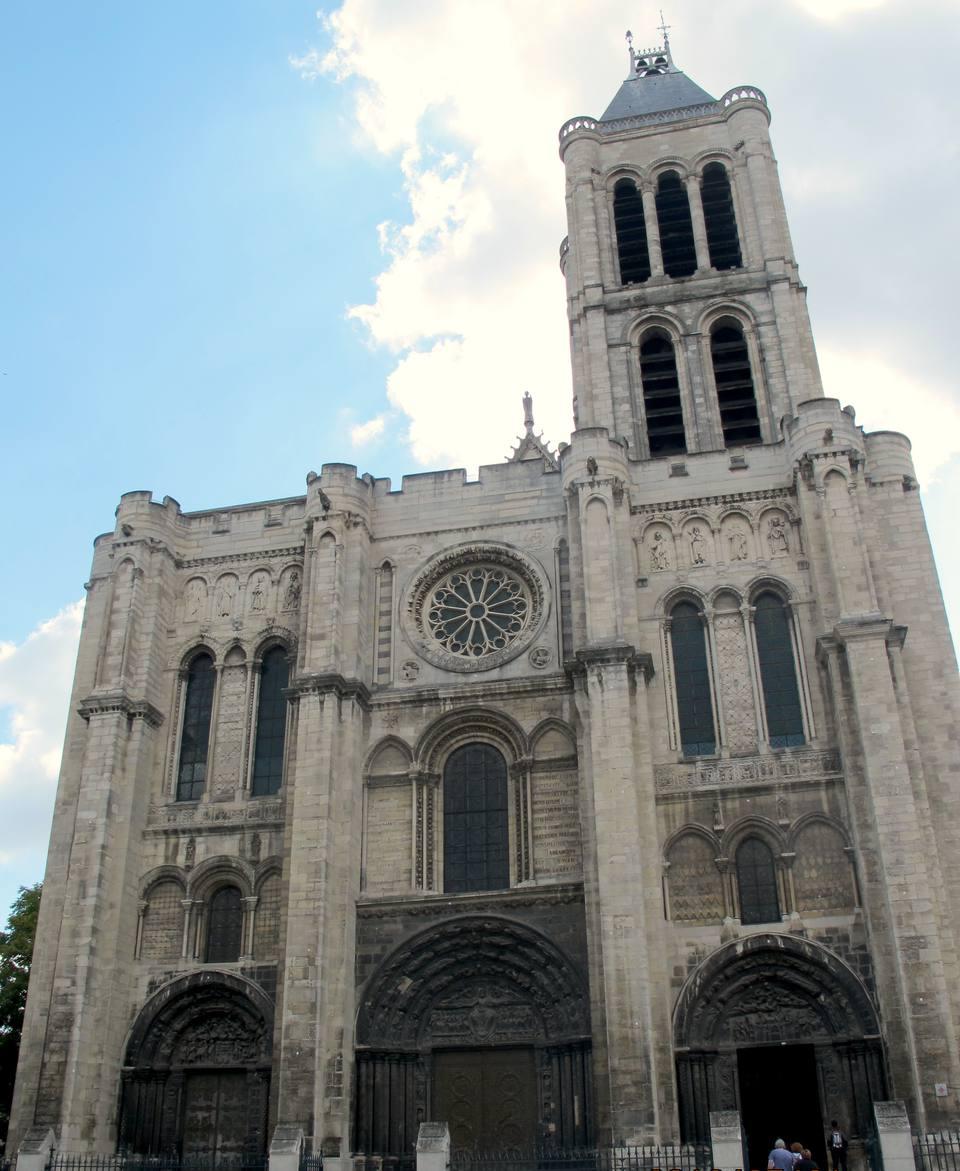 St Denis Basilica exterior in St Denis France