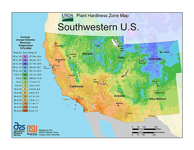 Plant Hardiness Zone Map Provided by USDA Image