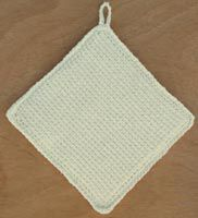 Easy Crochet Potholder in Afghan Stitch