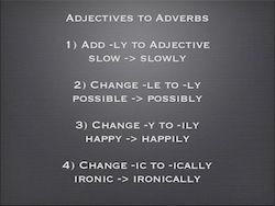 Adjective Changes to Adverb