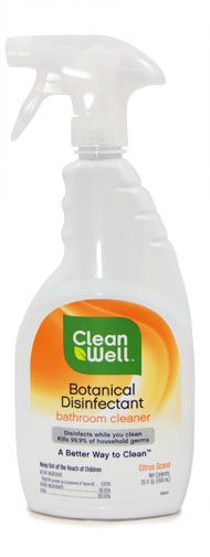 Clean Well Botanical Disinfectant Bathroom Cleaner