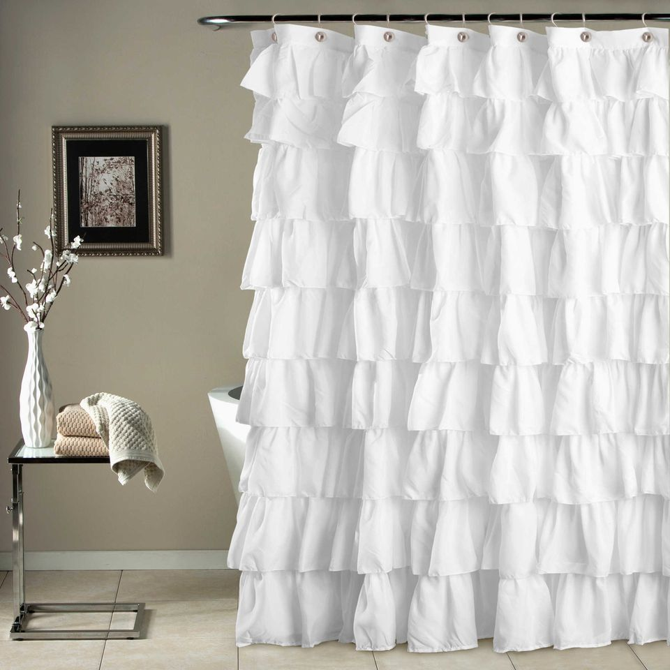 Feminine Ruffle Shower Curtain Bed Bath Beyond Frilly And
