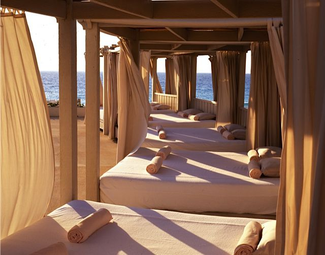 Top this: a shaded cabana on the beach in Cancun