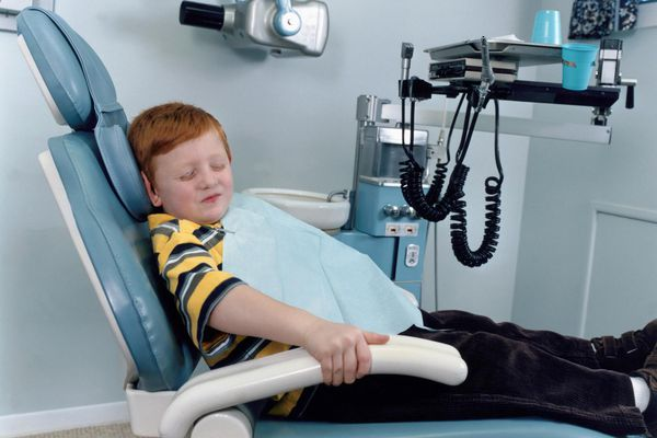 Child with a dentist phobia