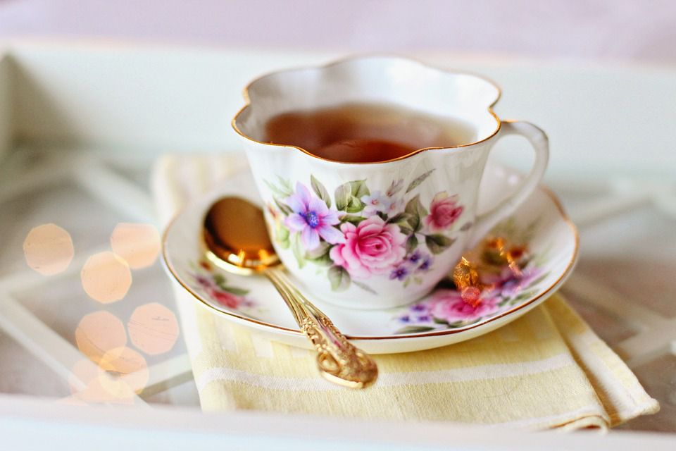 tea in cup and saucer