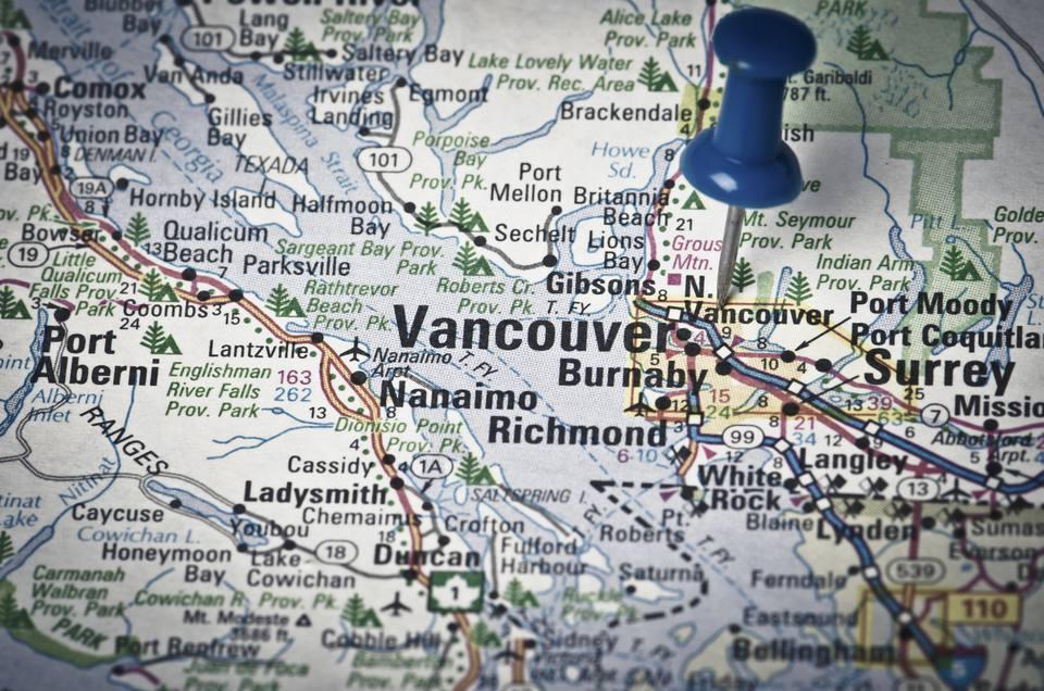 Vancouver Canada Location Map