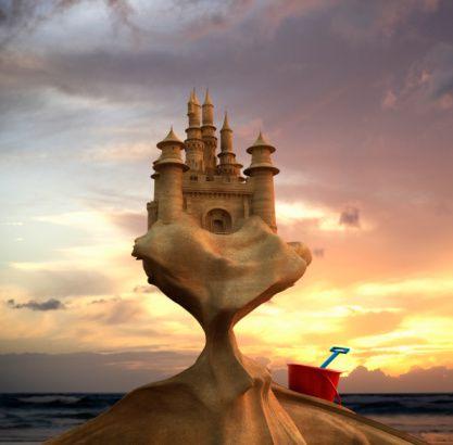 Ton château de sable, magnifique d'ailleurs, ne peut pas durer