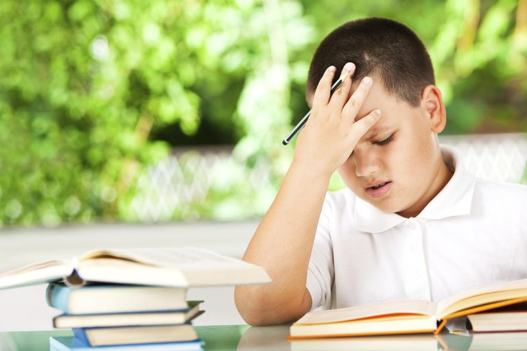Boy Having Problems With His Homework