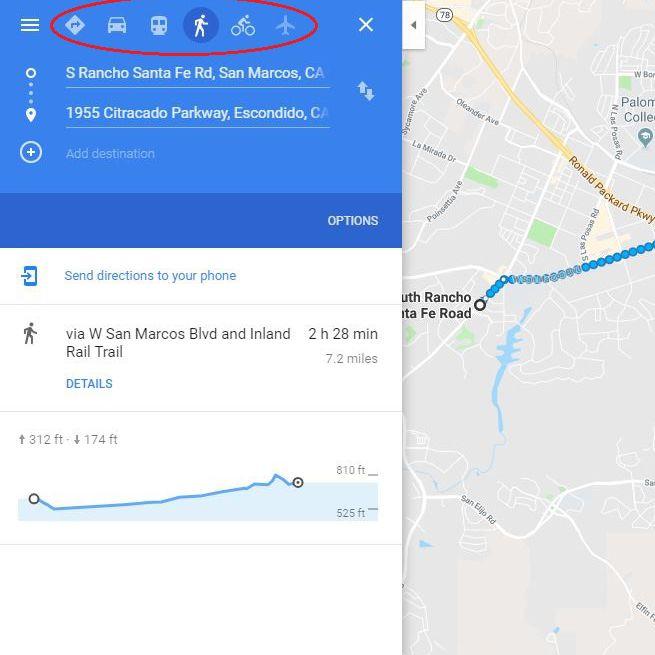 screenshot of walking icon
