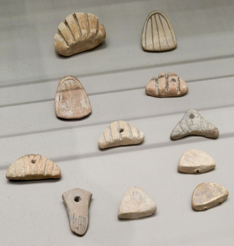 Clay Tokens, Uruk Period, Excavated from Susa, Iran