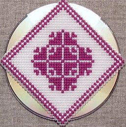 Transform a CD with Cross Stitch