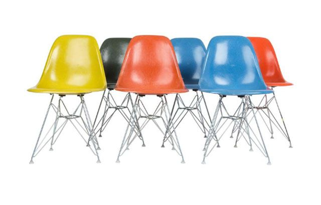 Eames Fiberglass Side Chairs also Known as Shell Chairs