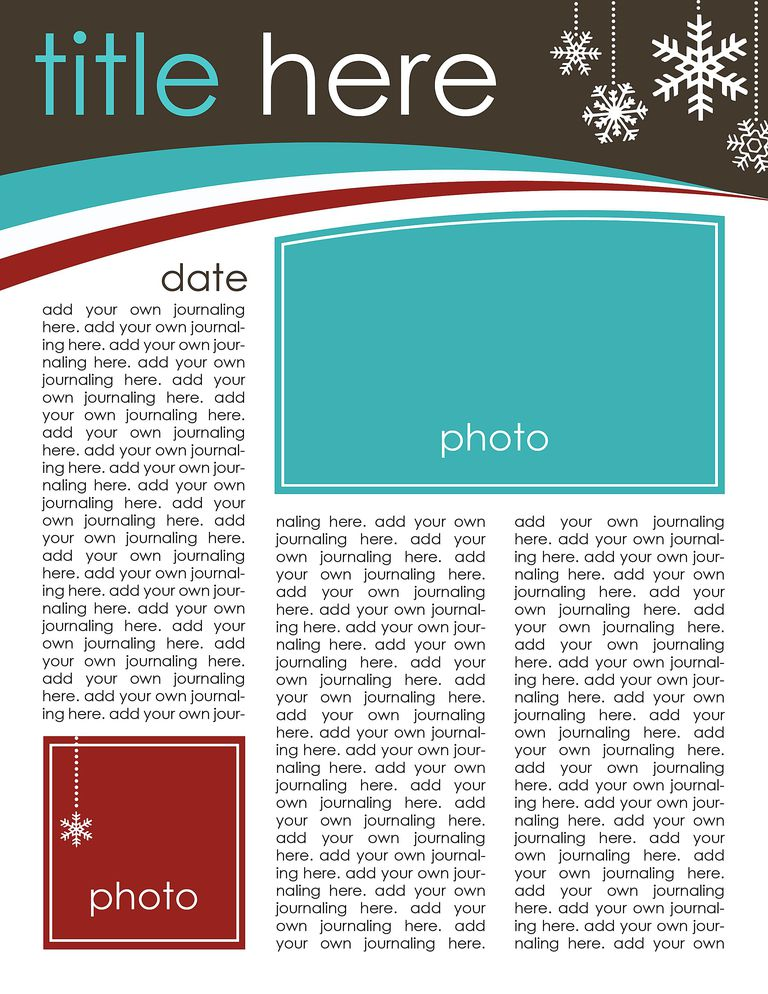 Christmas news letter template spiritdancerdesigns Choice Image
