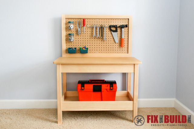 DIY Kids Workbench From Fix This Build That