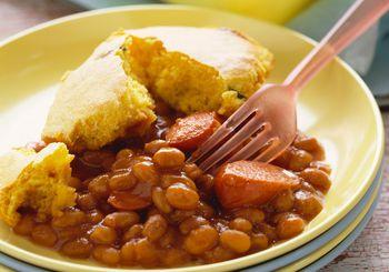 Hot Dog And Lima Bean Casserole