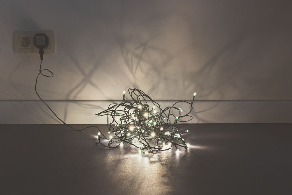 View Of Fairy Lights On Ground Indoors