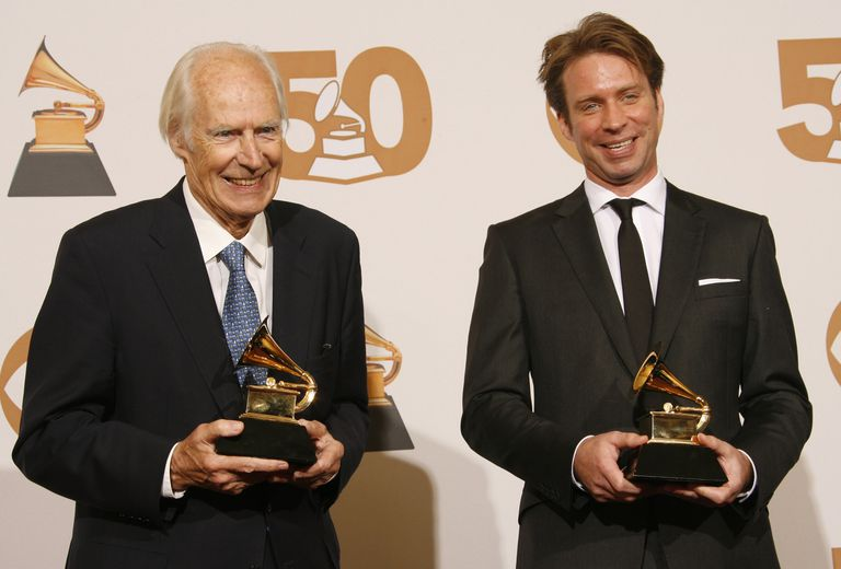 George and Giles Martin won a Grammy Award for the recording of the Beatles 'Love' album