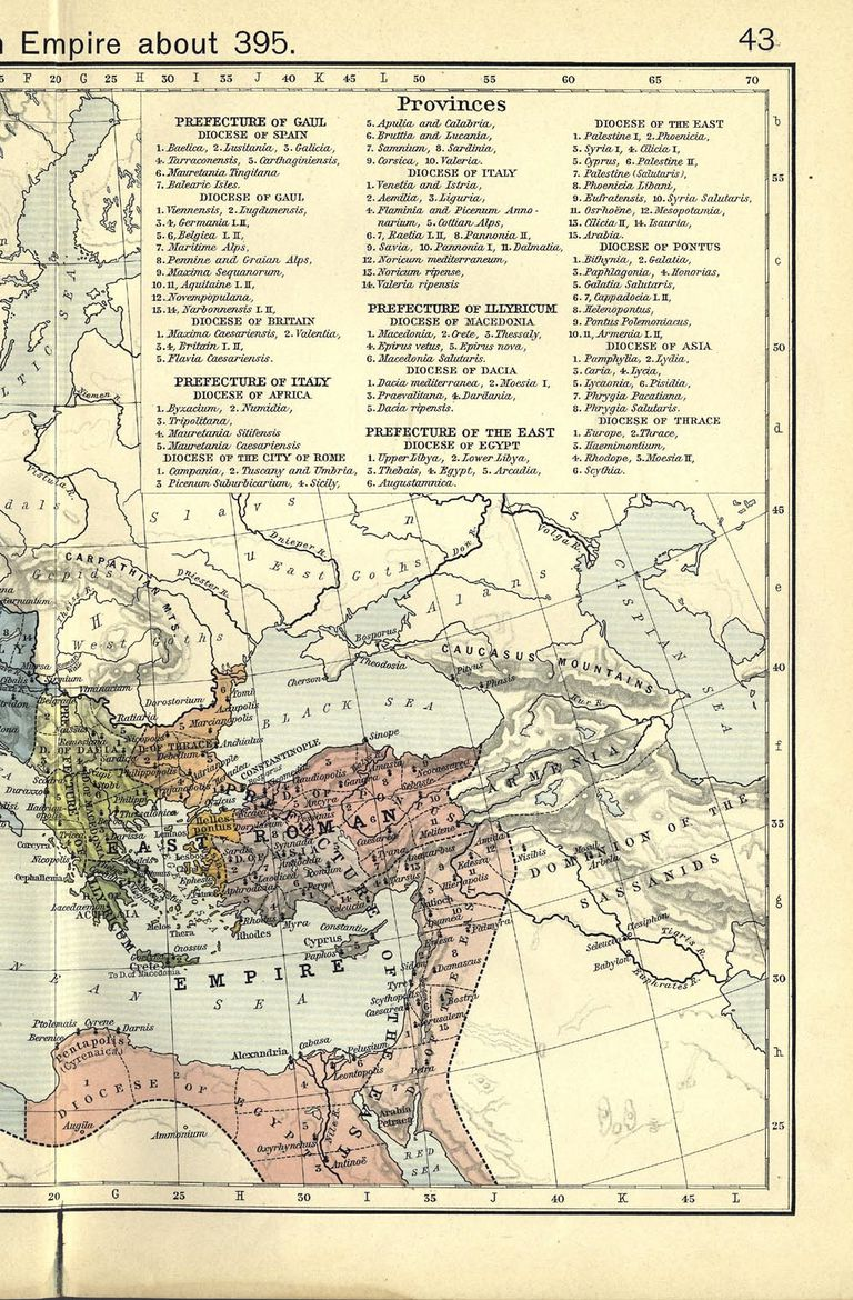 Ancient Map Of The Western Roman Empire - Rome empire map