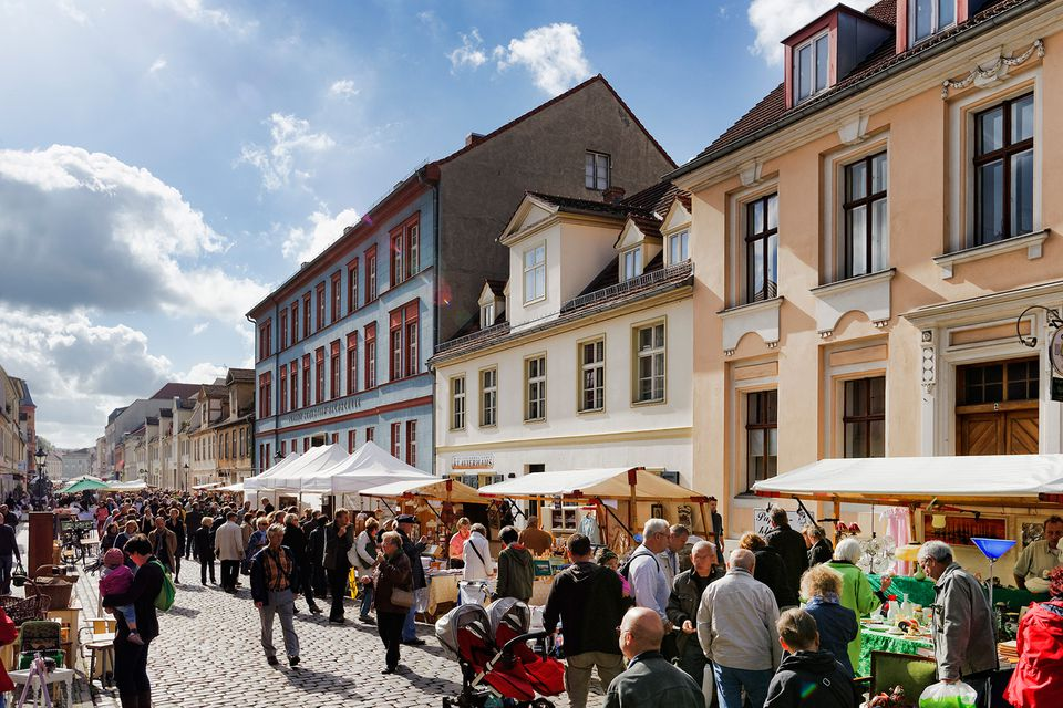 A traditional market in Germany