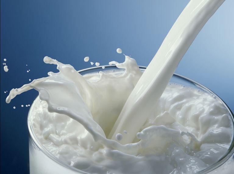 Milk is slightly acidic, with a pH around 6.5.