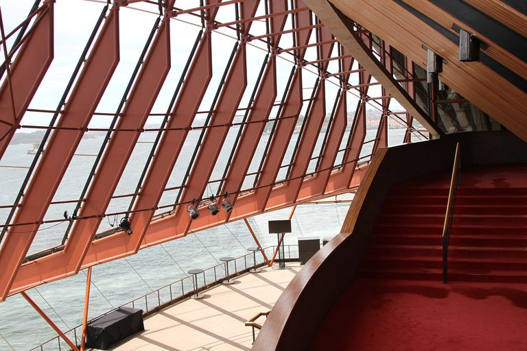 Glass, wood, steel -- Foyer of the Sydney Opera House