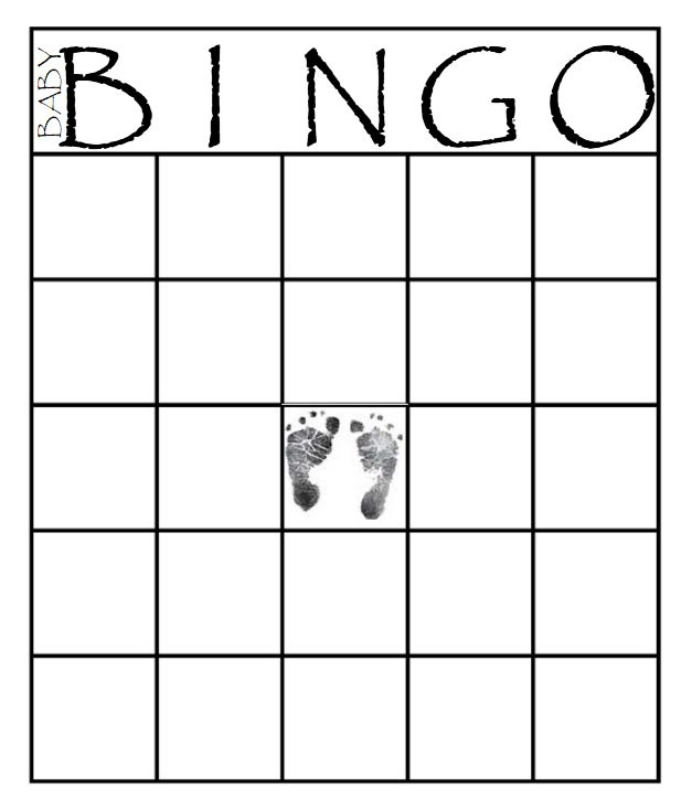 Obsessed image with free printable baby shower bingo