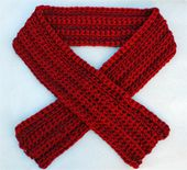 Easy Thick and Thin Crochet Scarf
