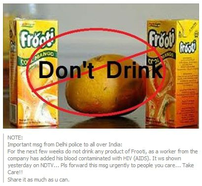 Frooti causing AIDS