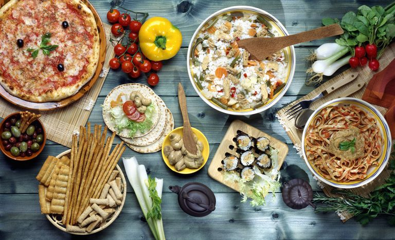 Mediterranean Foods on the Table.