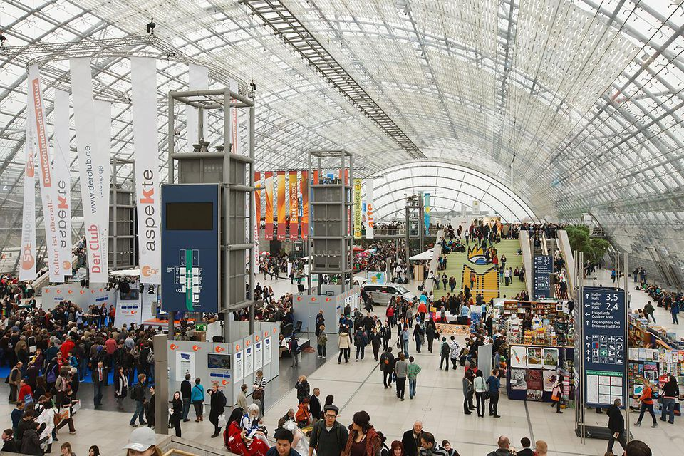 A general view of the 2011 Leipzig Book Fair at the fair grounds on March 18, 2011 in Leipzig, Germany.