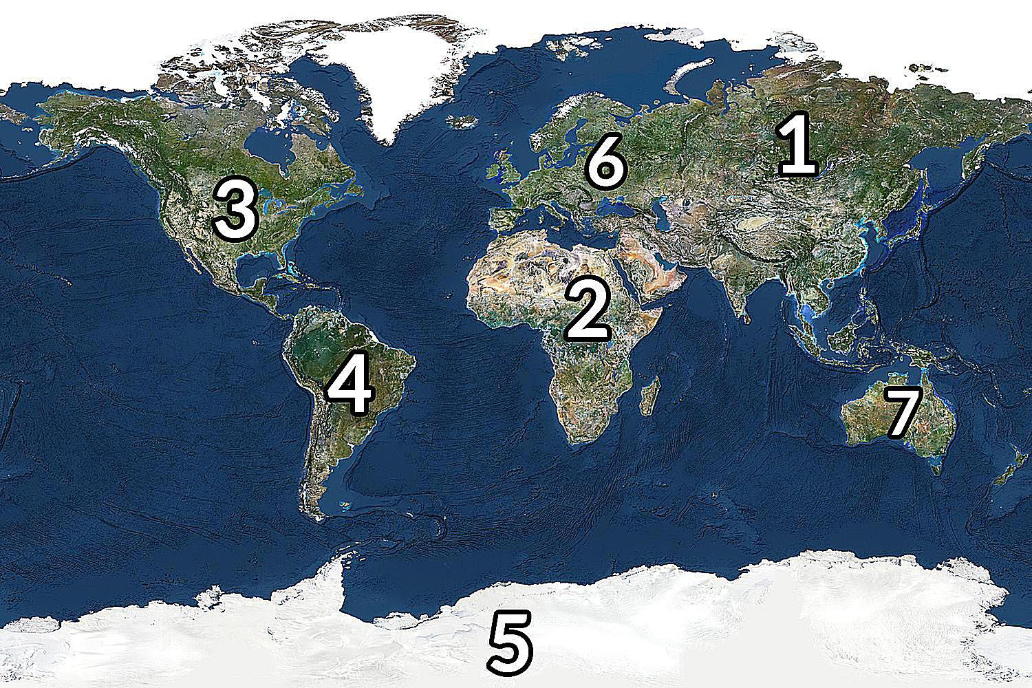 The Continents Ranked By Size And Population - What is the biggest continent