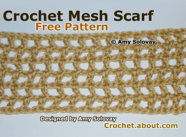 Easy Crochet Mesh Scarf