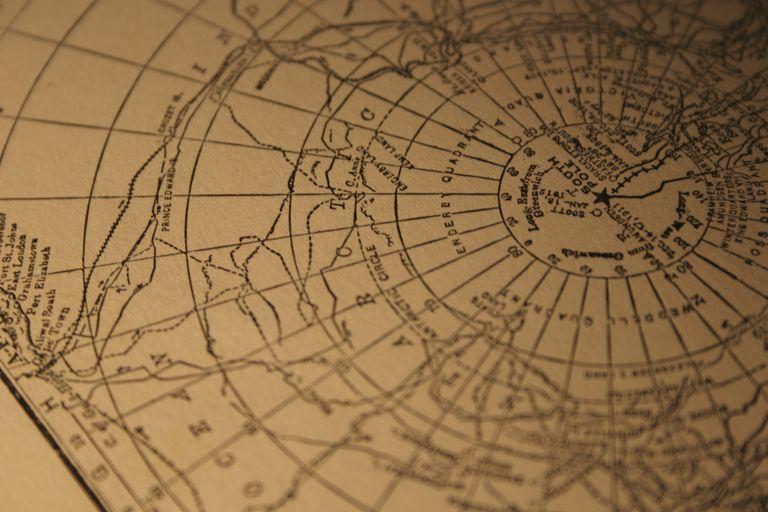 vintage South Pole map