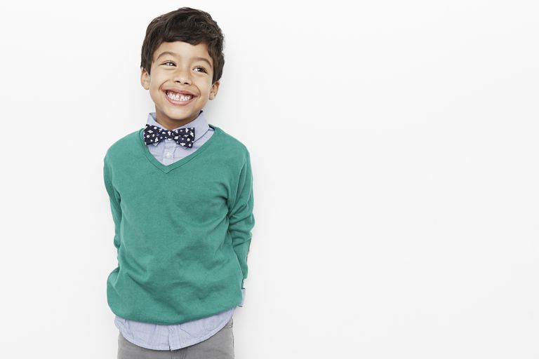 Boy looking preppy with bow tie