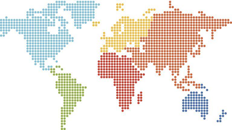 Pointilism world map