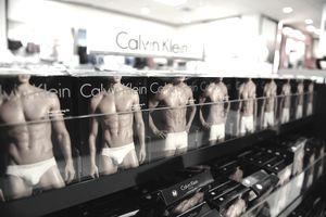 Calvin Klein underwear packaging display