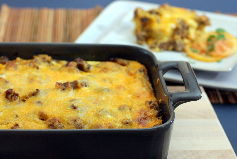 Breakfast Casserole With Sausage and Biscuits