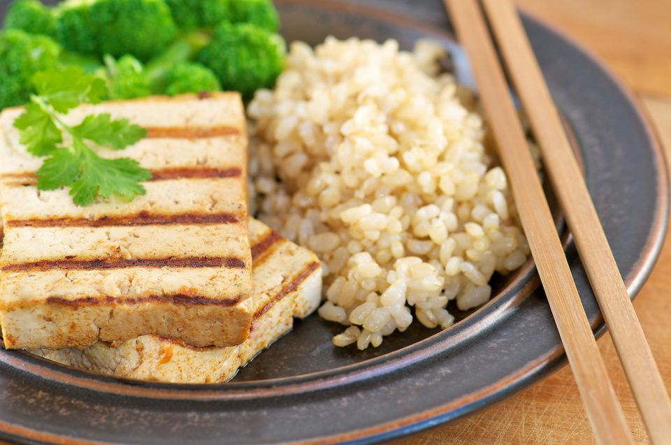 Tofu and brown rice