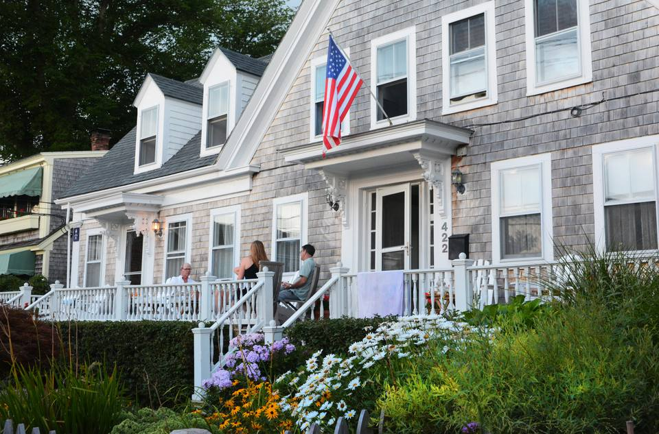 Relaxing on the front porch. Provincetown, Cape Cod