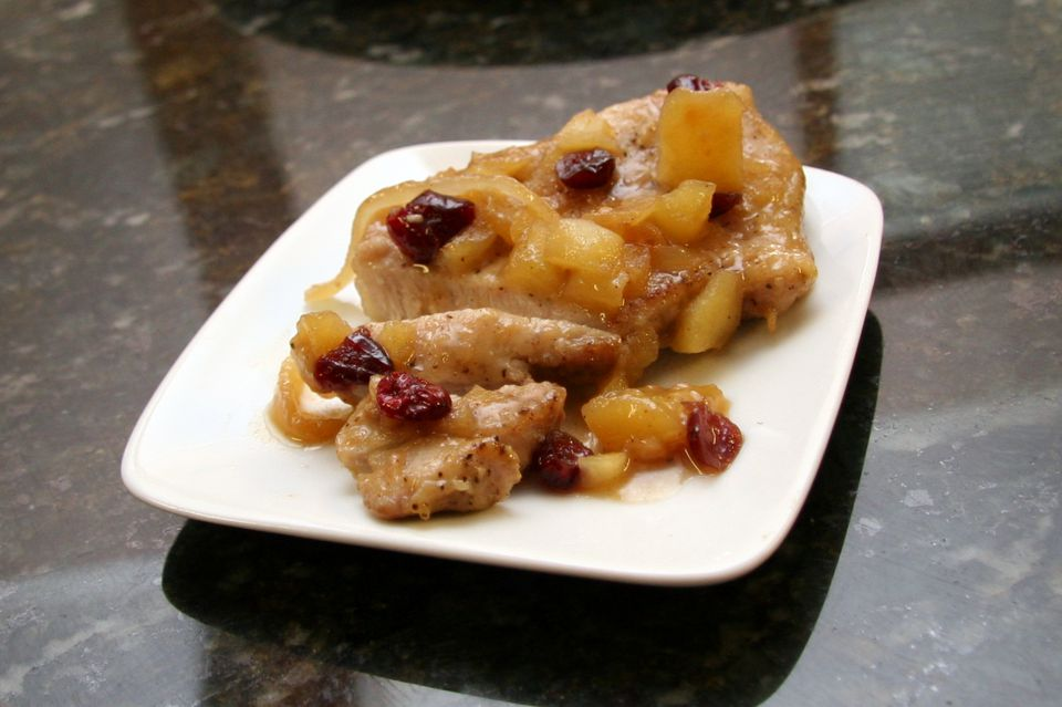 pork chops with apples and cranberries