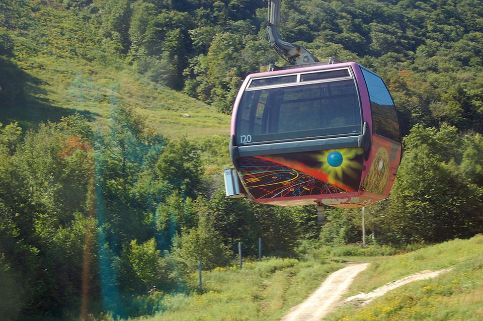 Killington Gondola Fall Chairlift Ride
