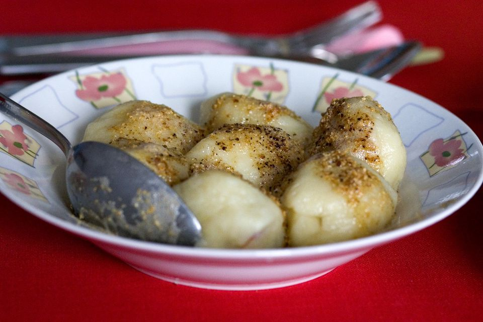 Polish fruit filled potato dumplings