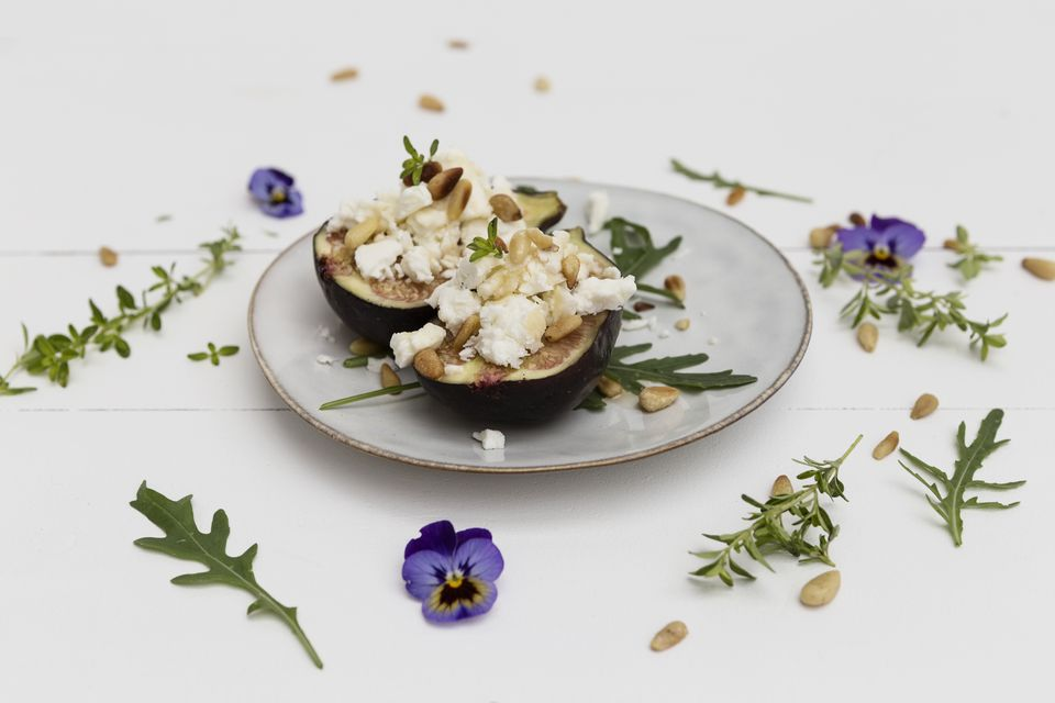 Figs, Chevre, and Pine Nuts