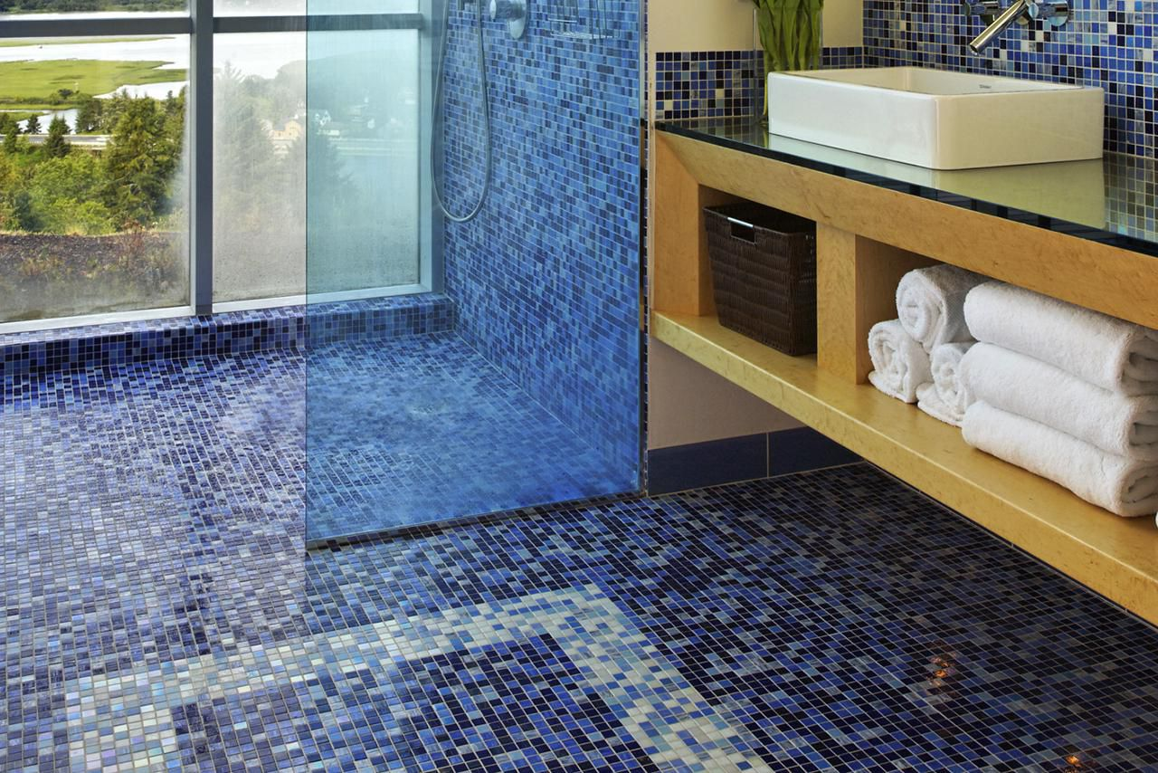 Floating tile flooring ready for prime time mosaic glass tile for floors pros cons and tips dailygadgetfo Images