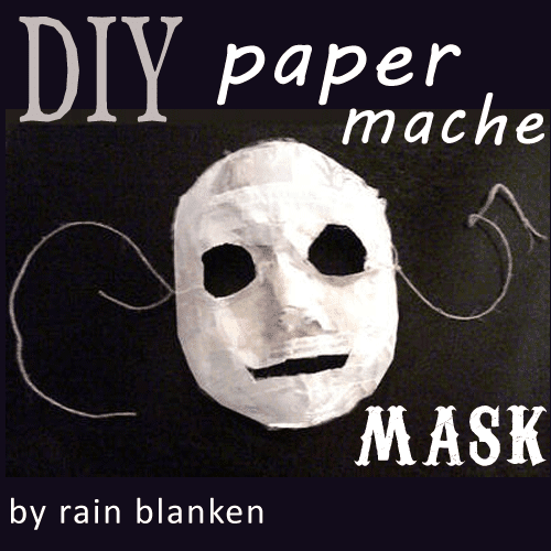 make a paper mache mask